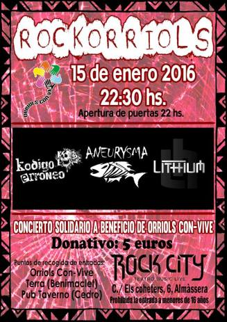 cartel concierto ROCK CITY
